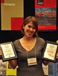 Jocelyn with journal awards
