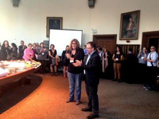 Susan and Paisley at the TSQ Reception